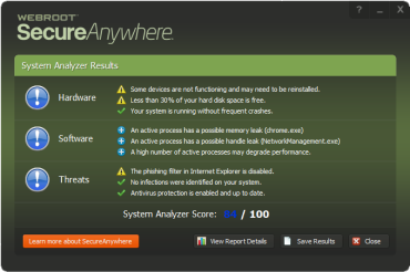 webroot analyser